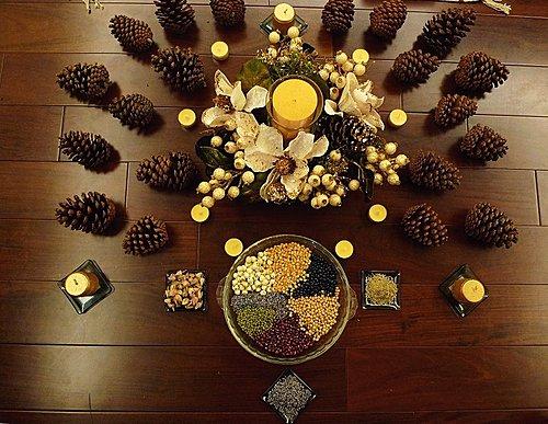 (松果,種子,金黃色都是象徵成為太陽聖子的偉大太陽神,他在就像是聖嬰一樣在女神的懷抱中)