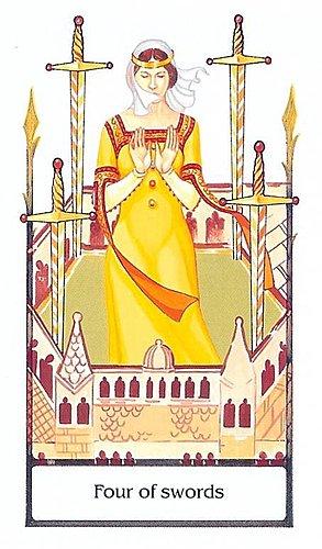 古徑塔羅小牌旅程之寶劍四