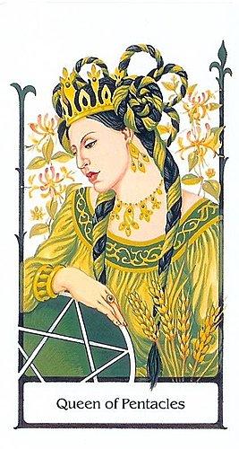 古徑塔羅小牌旅程之錢幣皇后
