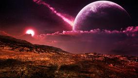 fantasy-alien-landscape-mystical-desert-environment-purple-sun-giant-moon-sky-38694349